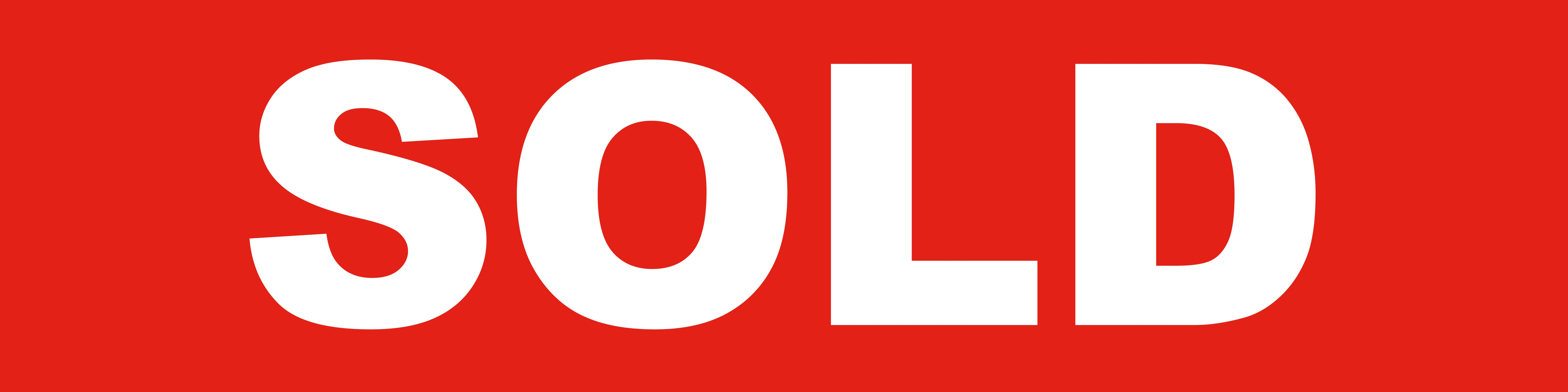 Sold Red Sign
