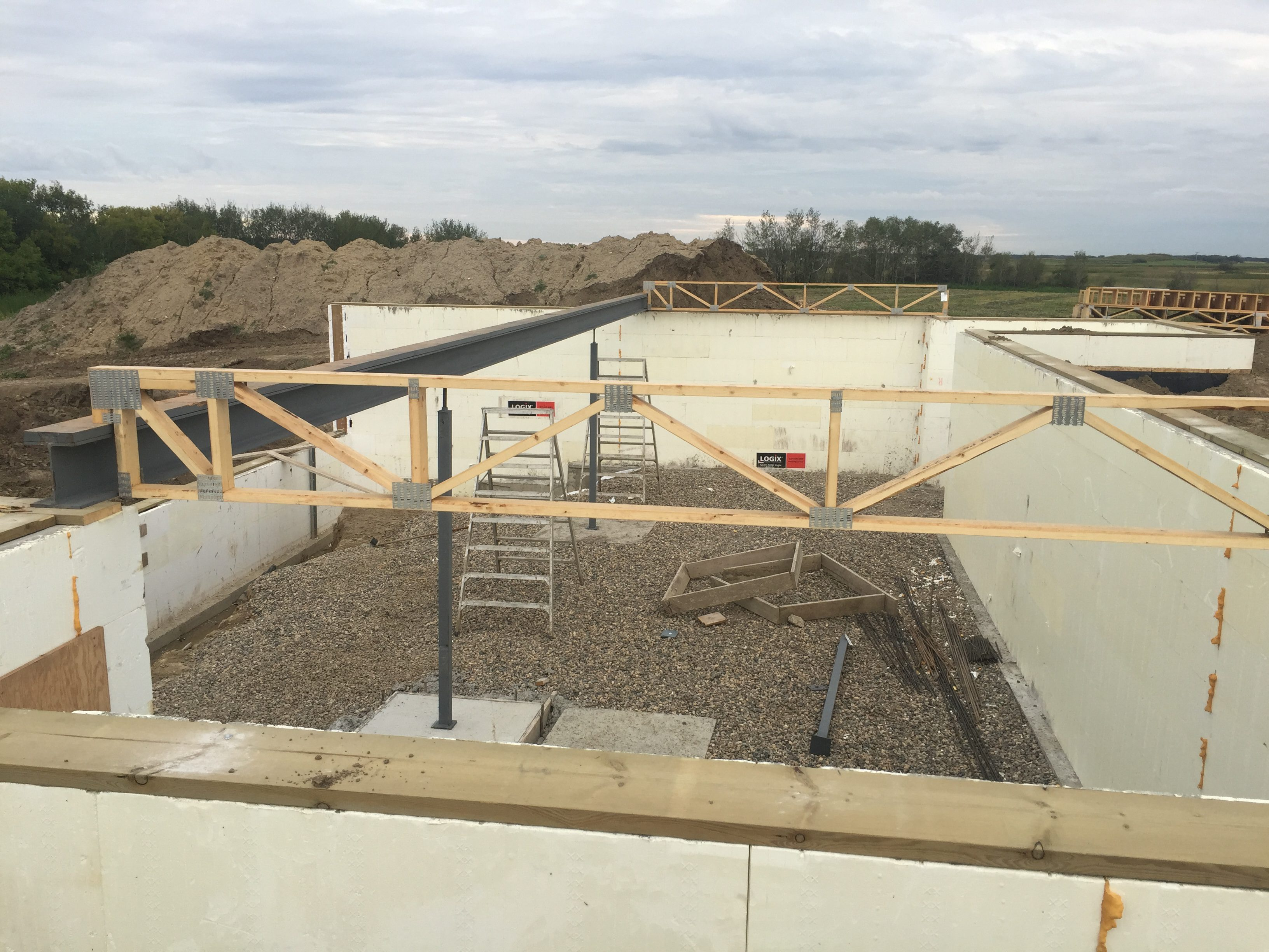 Basement Construction of and Upcoming Home on Lot 6